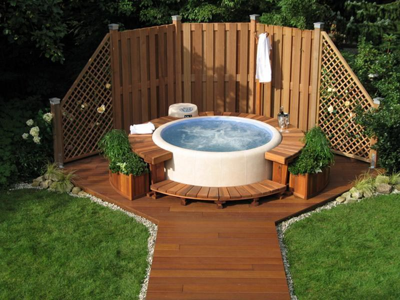 Above Ground Hot Tub Ideas | Backyard Design Ideas