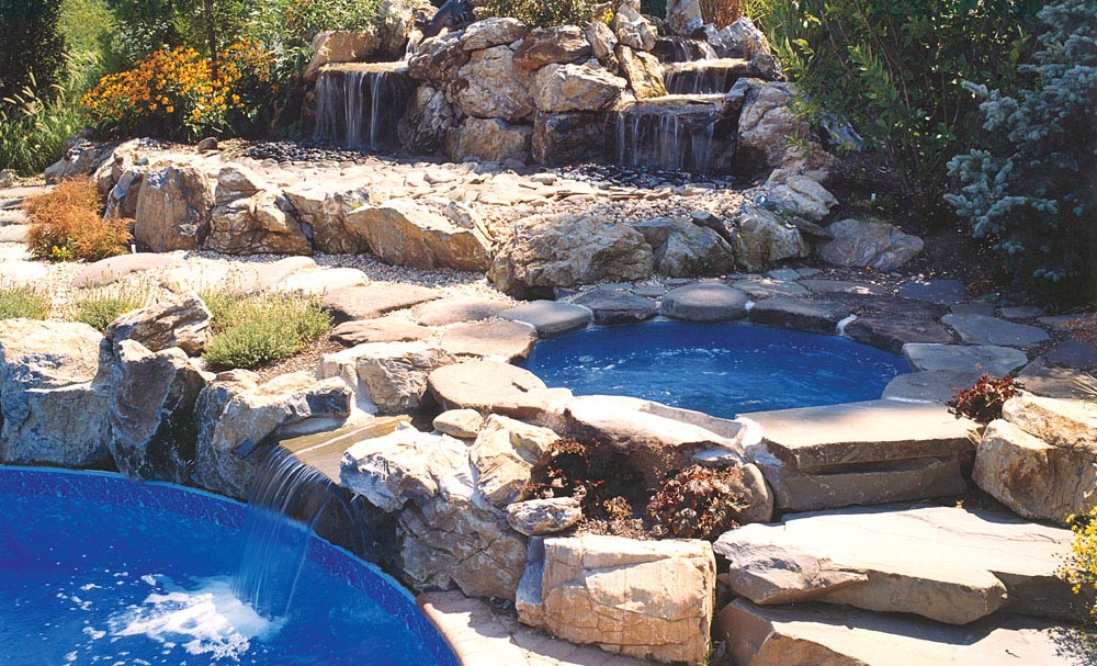 Fabulous Above Ground Pool Hot Tub Combo | Backyard Design Ideas BK89