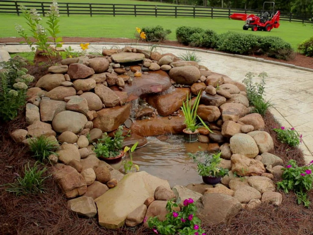 Building a Garden Pond with Waterfall