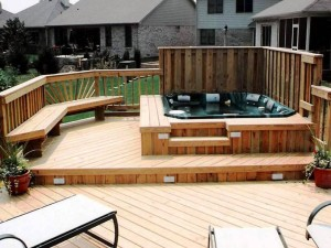 Deck Support Hot Tub