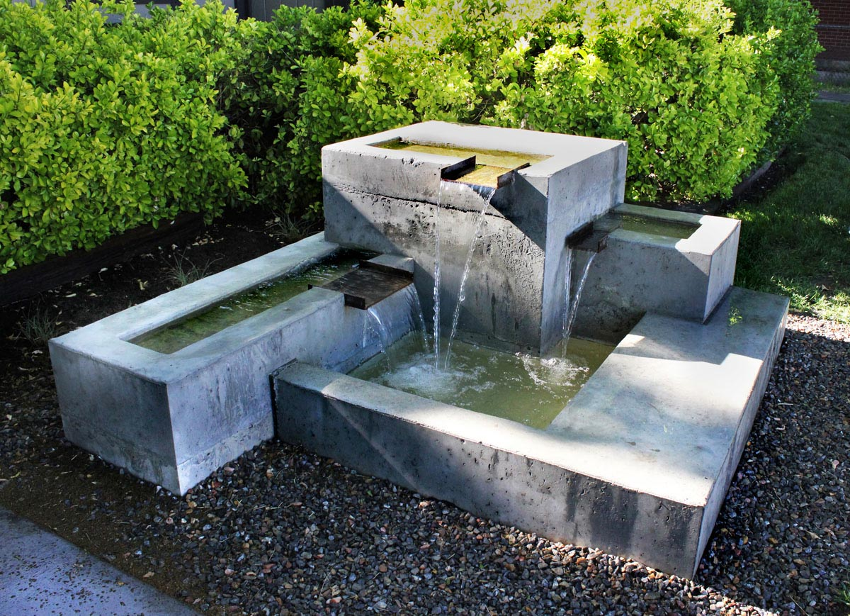 DIY Concrete Water Feature