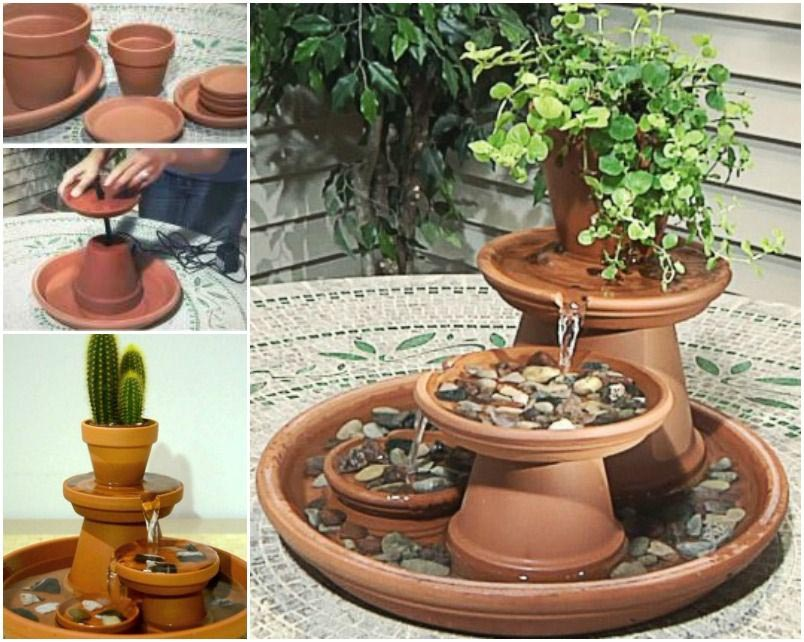 DIY Pot Water Feature