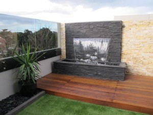 Diy patio water feature backyard design ideas Diy wall water feature