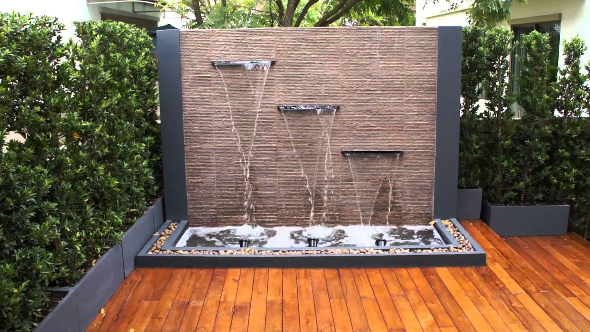 Diy water feature wall backyard design ideas Diy wall water feature