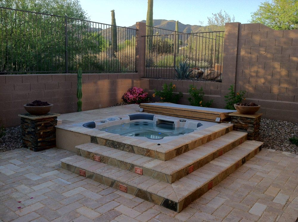 Image Result For Built In Tub Small Backyard