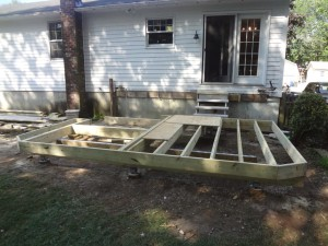 Hot Tub Deck Framing