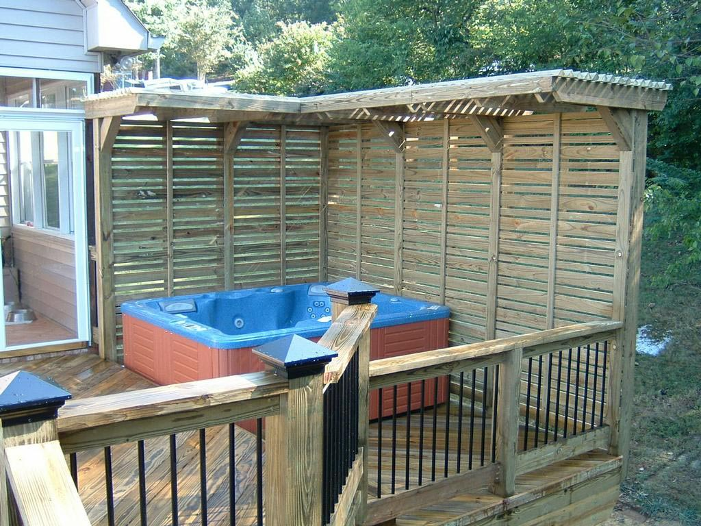 Hot tub deck images backyard design ideas for Hot tub deck designs plans