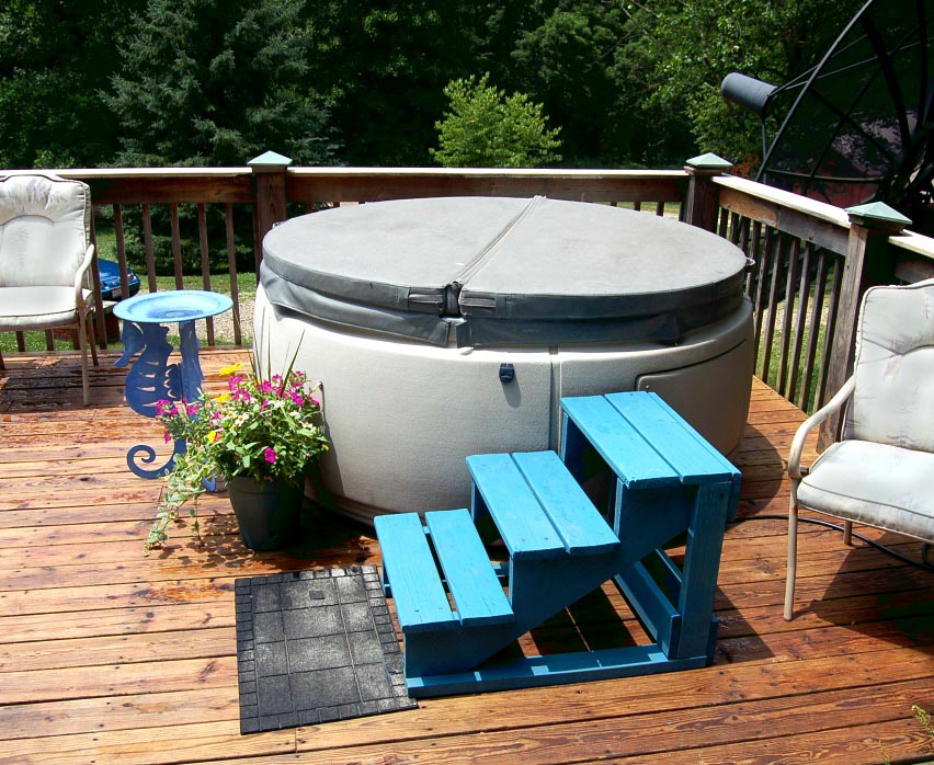 Hot tub on deck backyard design ideas for Hot tub deck designs plans