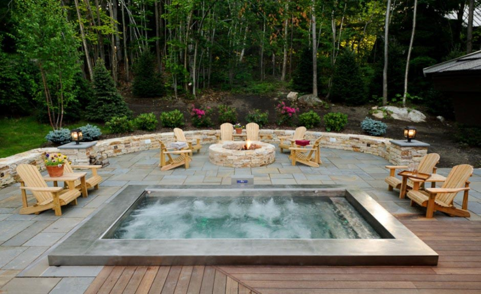 Hot Tub Outdoor Design Backyard Design Ideas