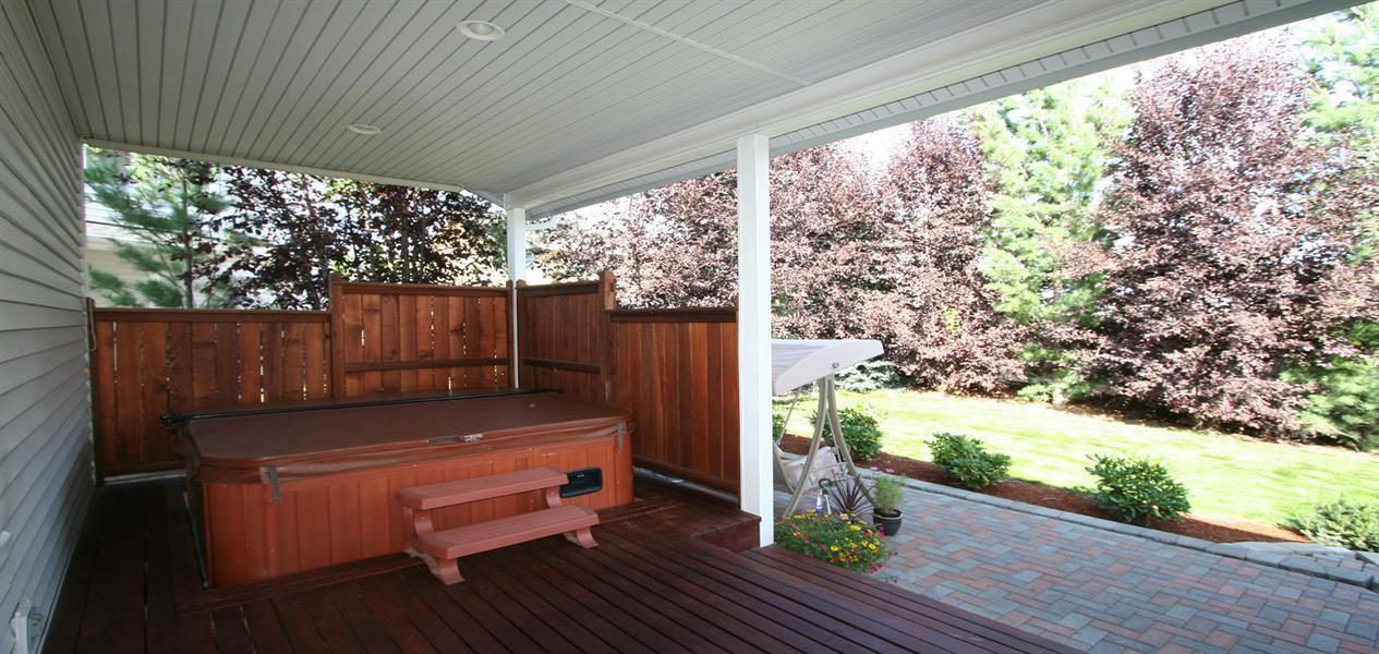 Hot Tub Under Deck