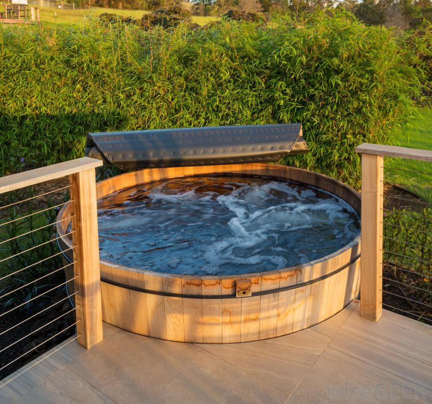 pros of building a hot tub deck backyard design ideas. Black Bedroom Furniture Sets. Home Design Ideas