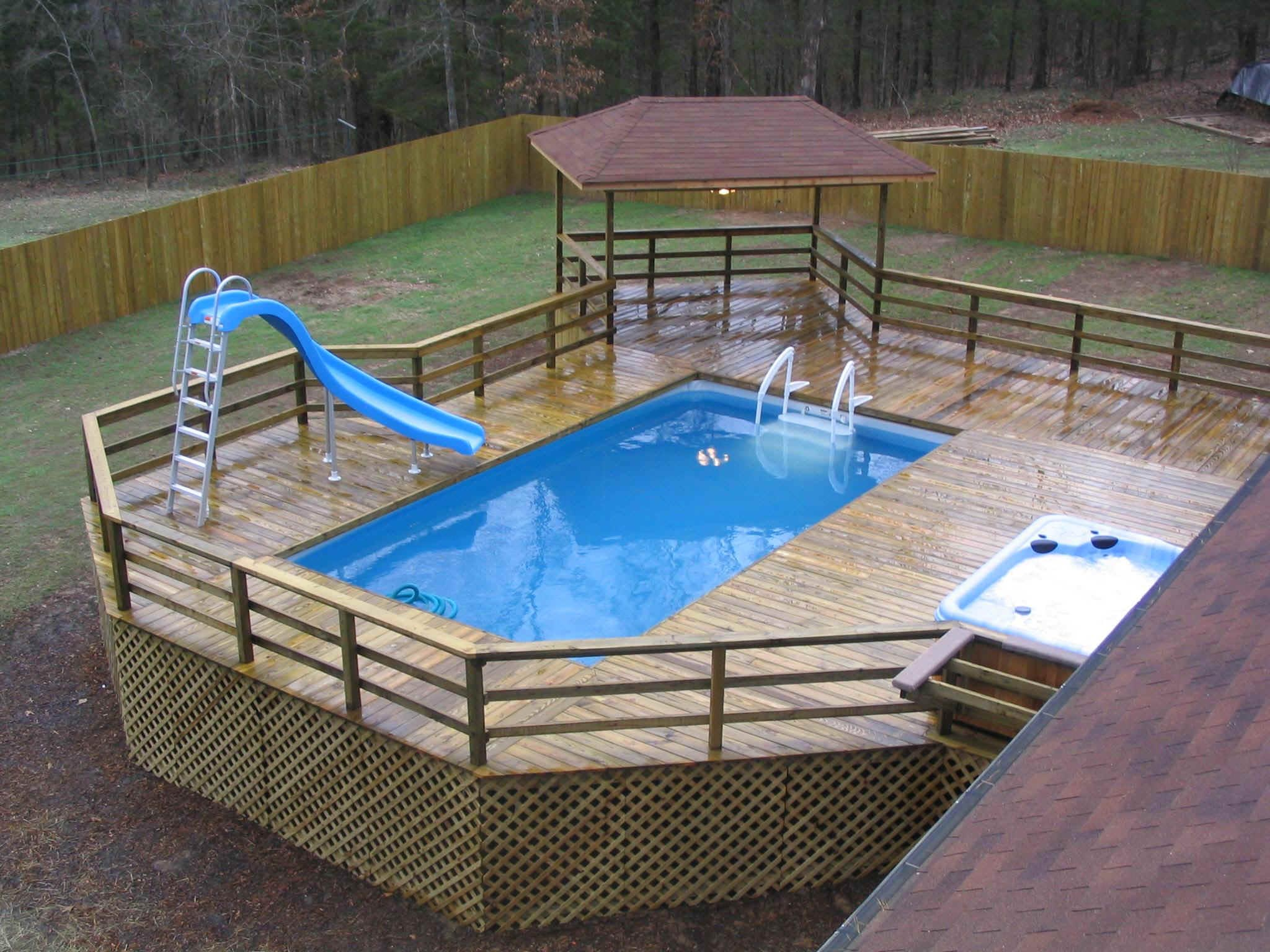 inground pool deck ideas | pool design and pool ideas