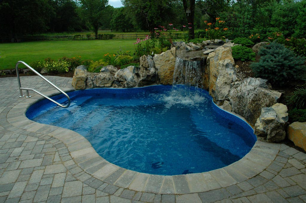 Underground Swimming Pool Designs inground swimming pool waterfalls amazing waterfalls for inground pools Inground Pool Designs For Small Backyards