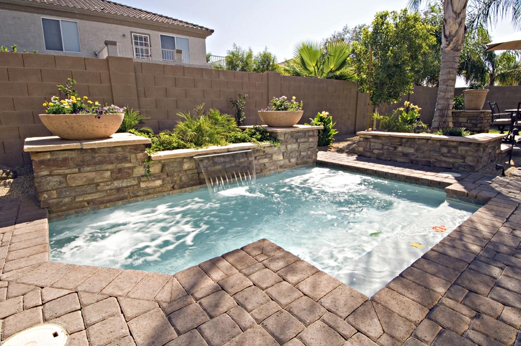 Inground pool for small backyard backyard design ideas for Gunite pool design ideas