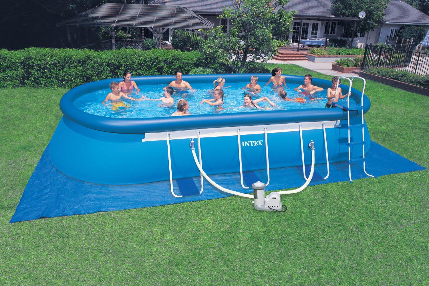 intex portable swimming pools backyard design ideas. Black Bedroom Furniture Sets. Home Design Ideas