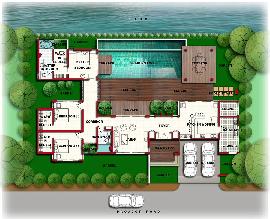 Luxury Mansion Floor Plans with Indoor Pools