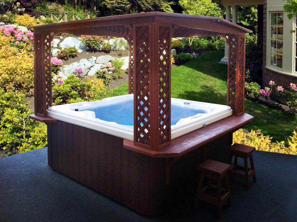 Outdoor Hot Tub Rooms Backyard Design Ideas