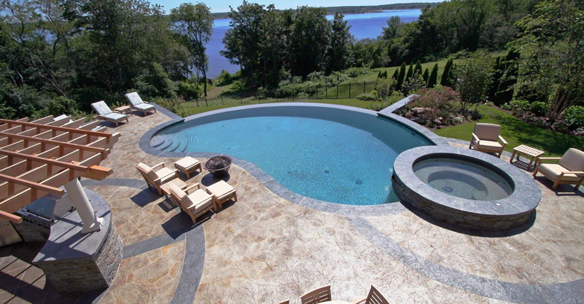 Swimming Pool Ideas With Deck Pool Deck Ideas For Inground Pools