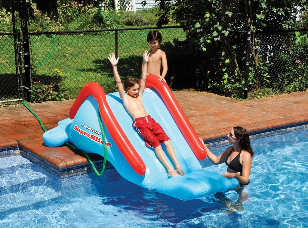 pool slides for kids backyard design ideas