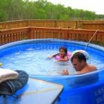 Above Ground Hot Tub Installation Backyard Design Ideas