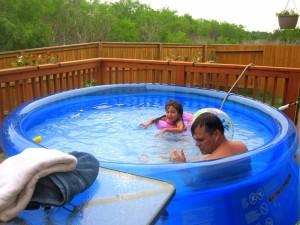 Above Ground Portable Swimming Pools Backyard Design Ideas