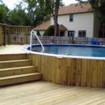 Semi Inground Pool Deck Ideas