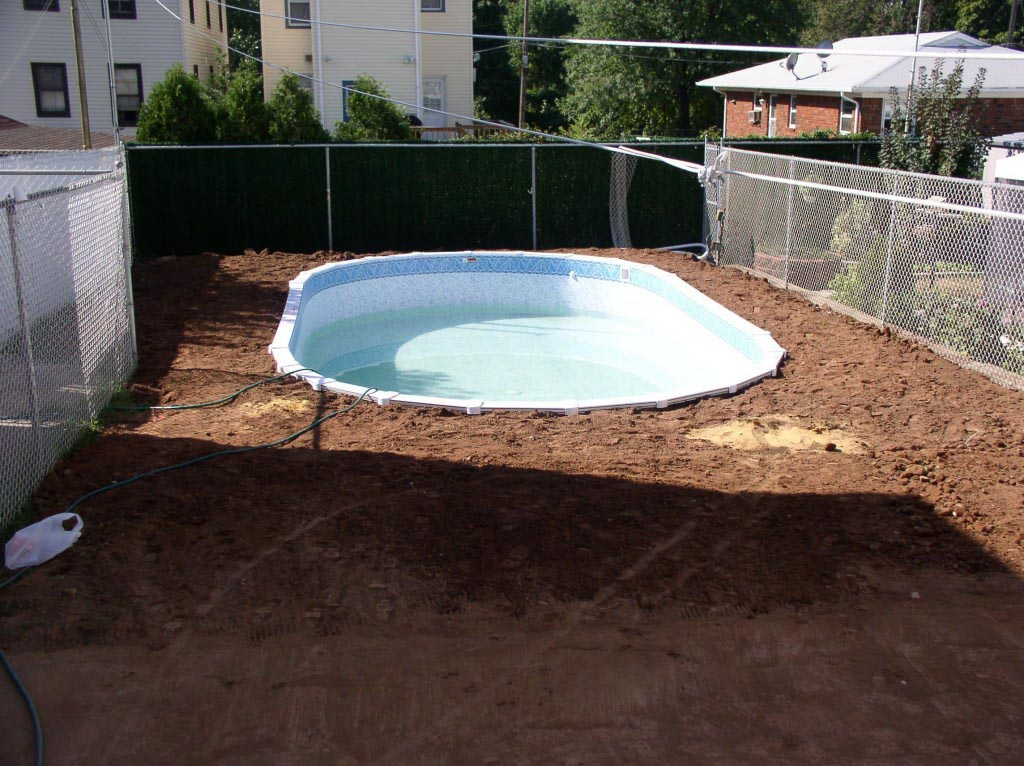 Semi in ground pool ideas joy studio design gallery for Pool installation