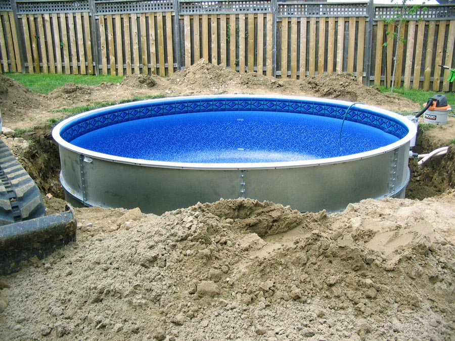 Image gallery inground pool kits for Inground swimming pool kits