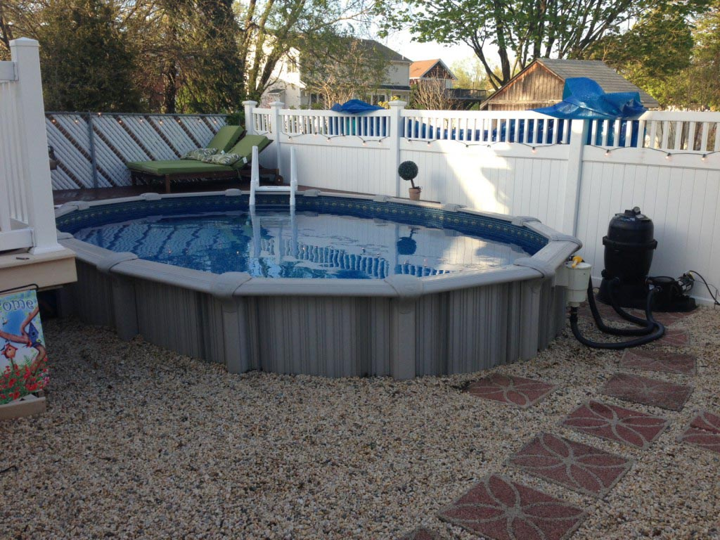 Semi inground pool sizes backyard design ideas for Semi inground swimming pools