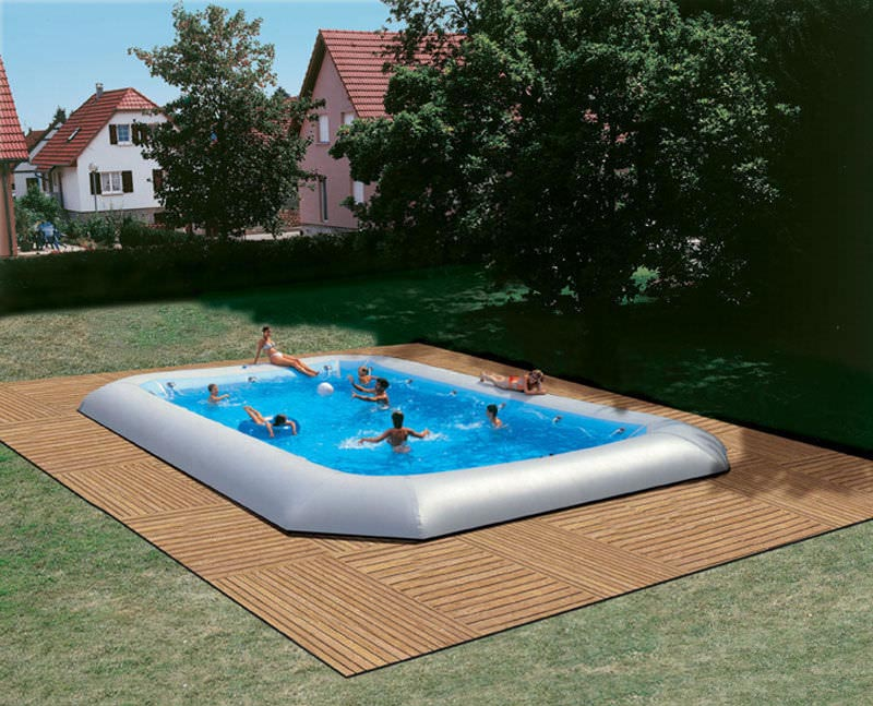 Semi inground swimming pool designs backyard design ideas for Backyard inground pool designs