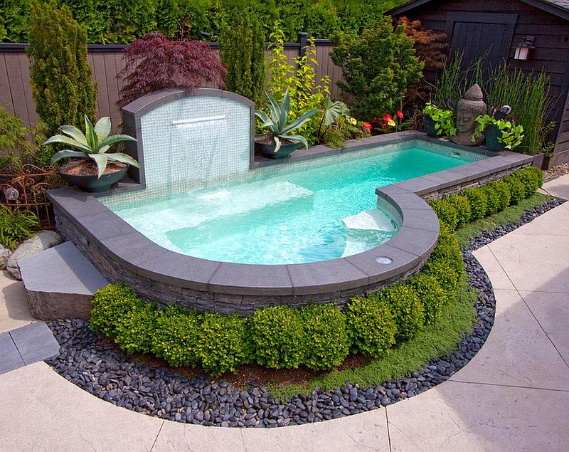 Small Yard Inground Swimming Pools : Small backyard inground pool design ideas