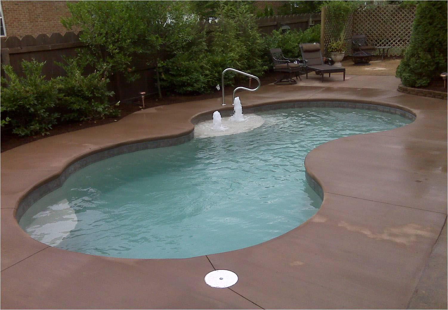 Small Fiberglass Inground Pool Backyard Design Ideas