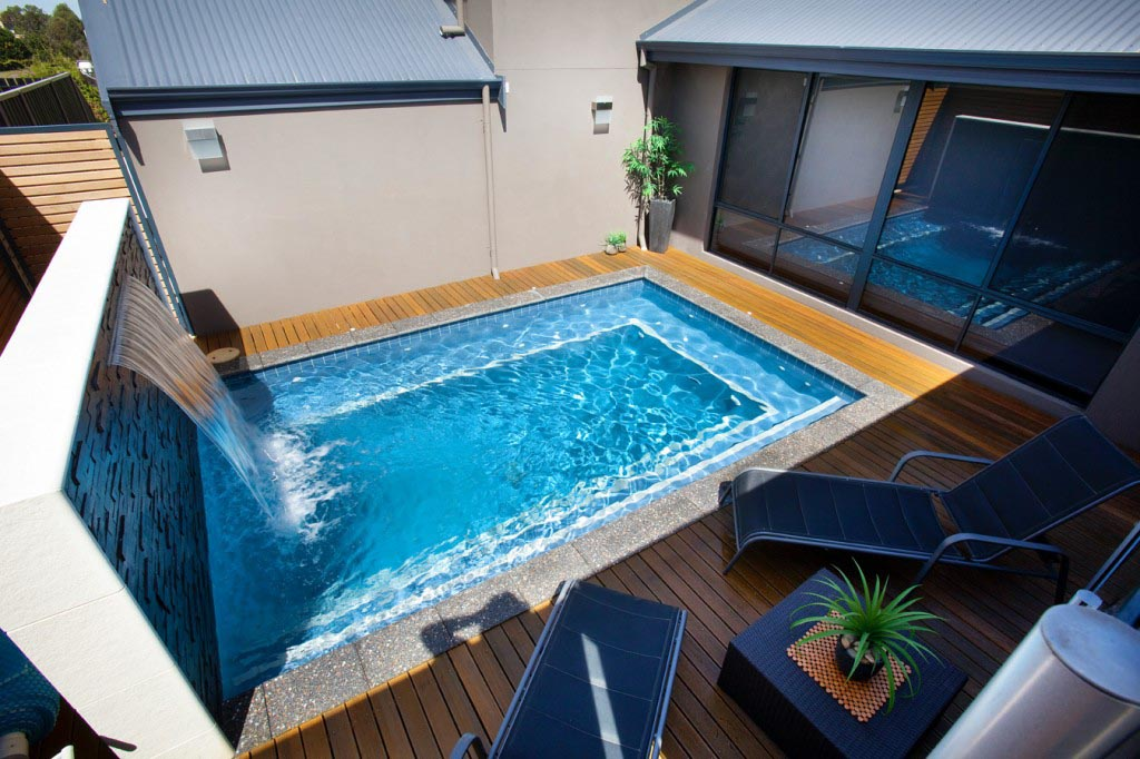 Small indoor swimming pool designs backyard design ideas for Small backyard swimming pool designs