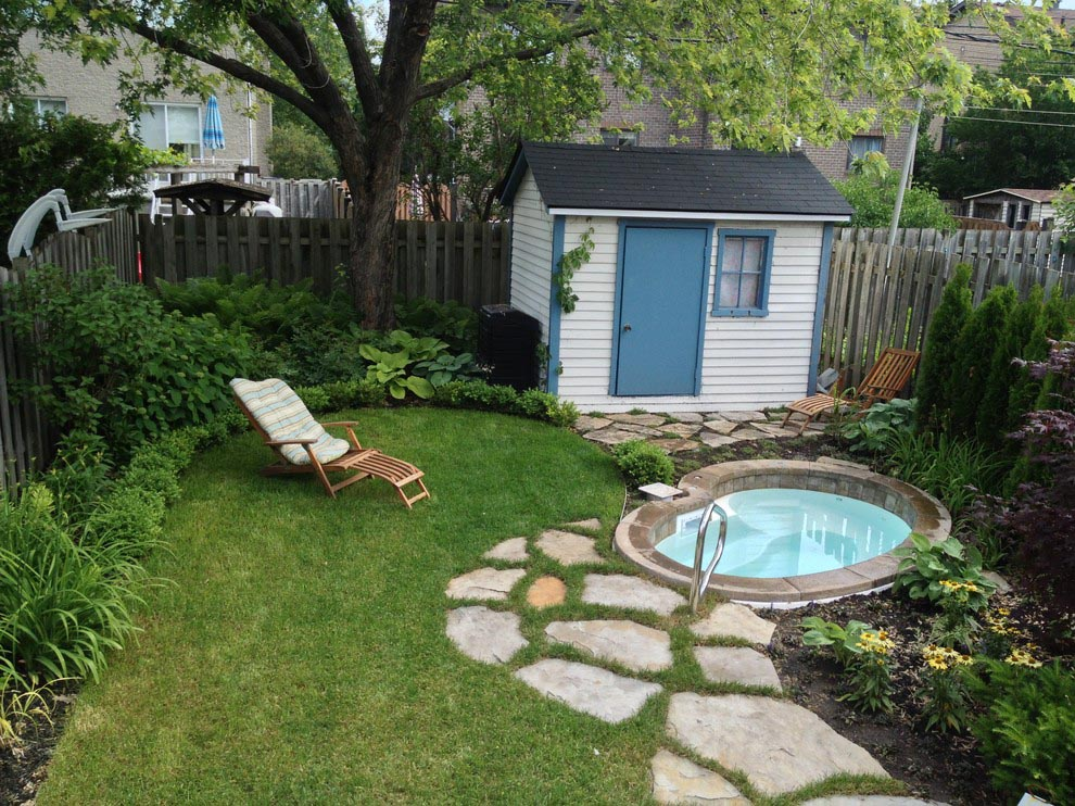 Small inground swimming pool kits backyard design ideas for Pool garden design pictures