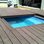 Wooden Deck Around Inground Pool