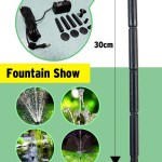 5 Head Solar Pump Garden Fountain Pond Water Feature