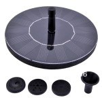 Agptek 1.12 Watt Solar Powered Garden Pond Waterfall Fountain Pump