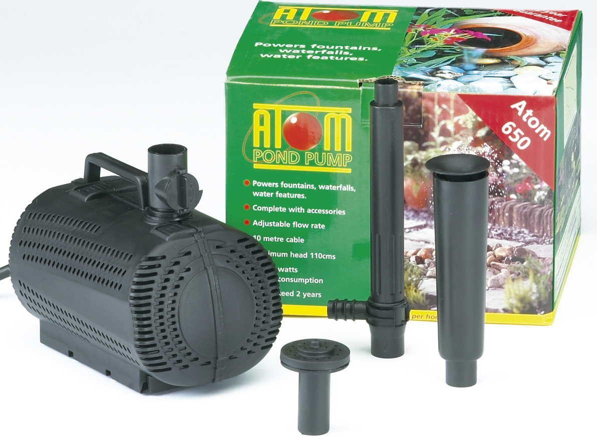 Atom 650 Submersible Outdoor Garden Fountain Water Pond Pump