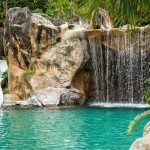 Backyard Pools with Rock Slides
