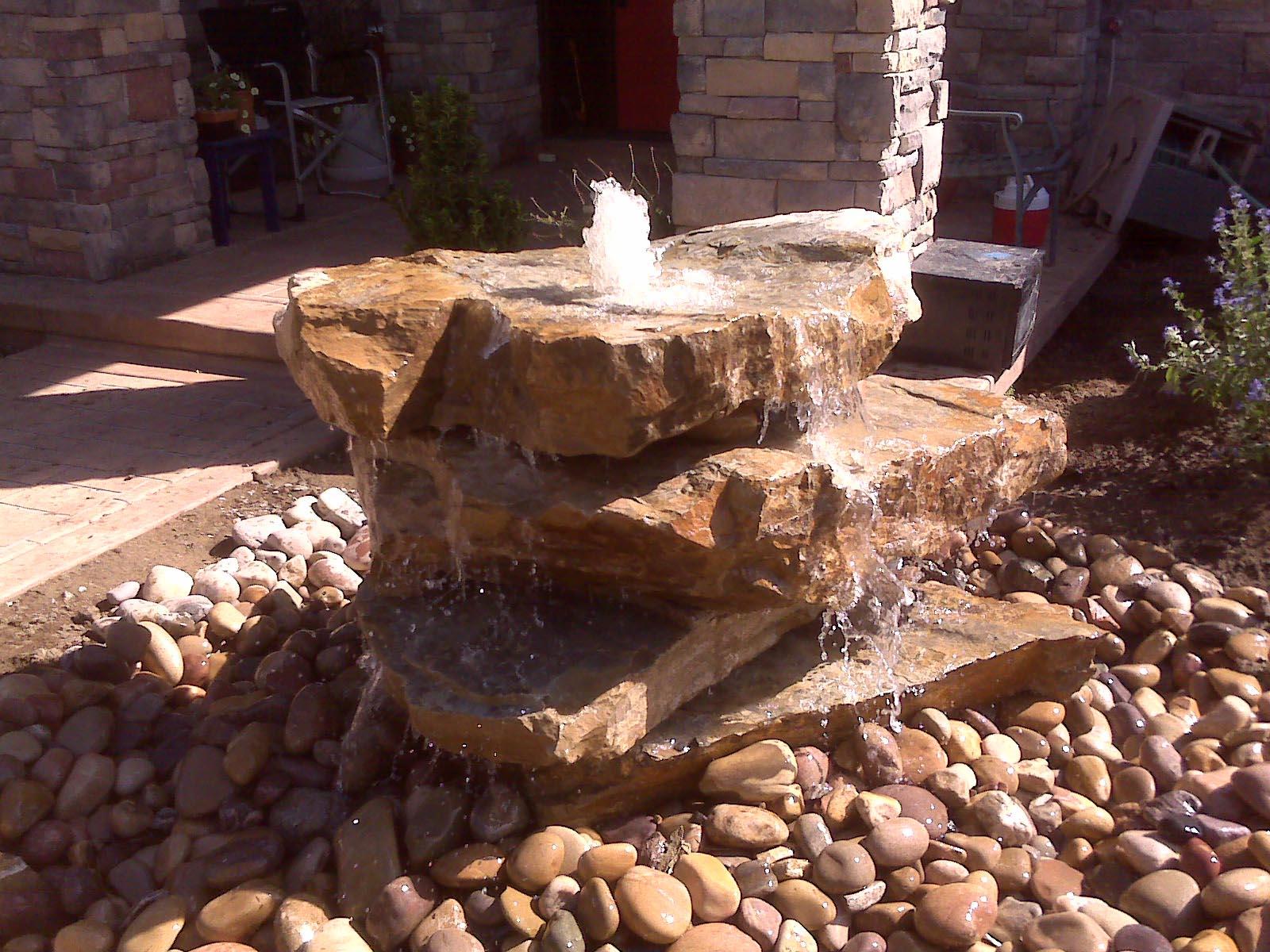 Backyard Rock Water Fountains