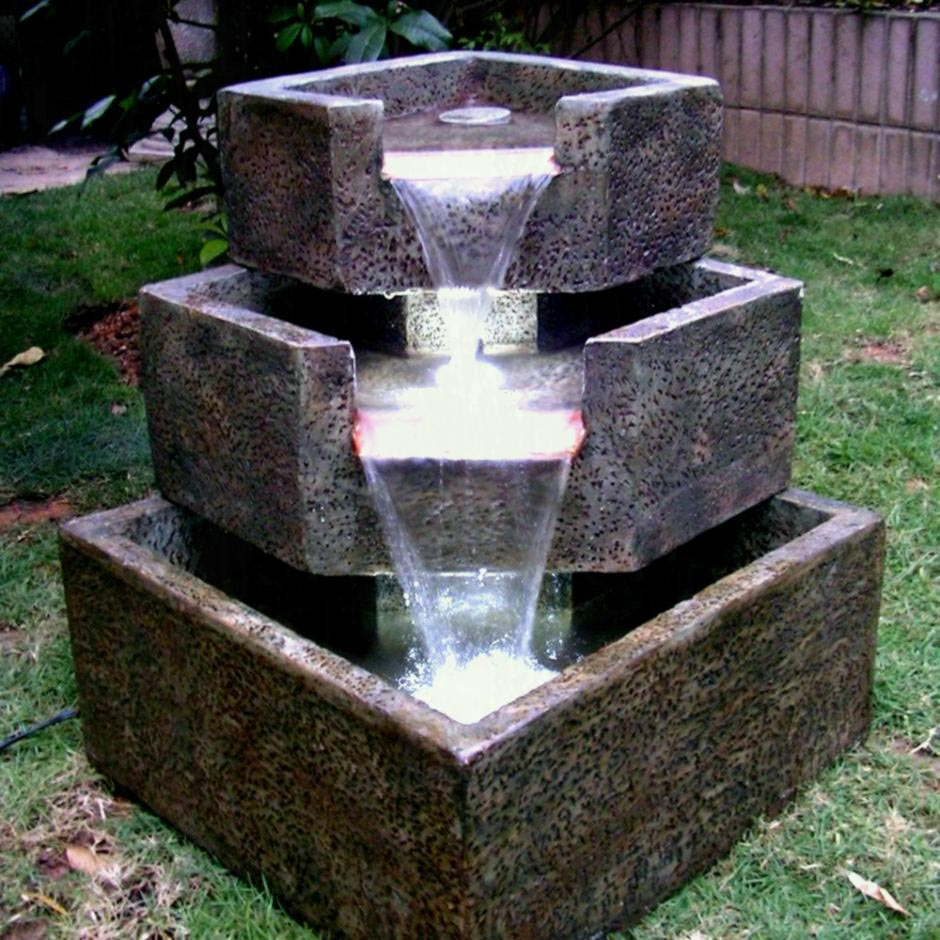 Backyard Solar Water Fountains