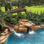 Custom Backyard Pool Slides