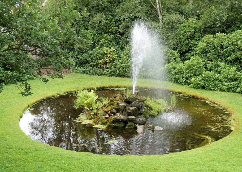 Garden Fountain with Pond