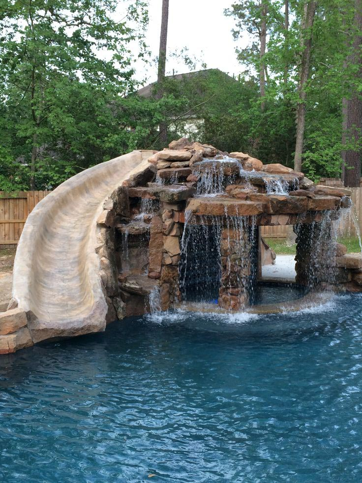 Home Alone Dog Pool Slide Backyard Design Ideas