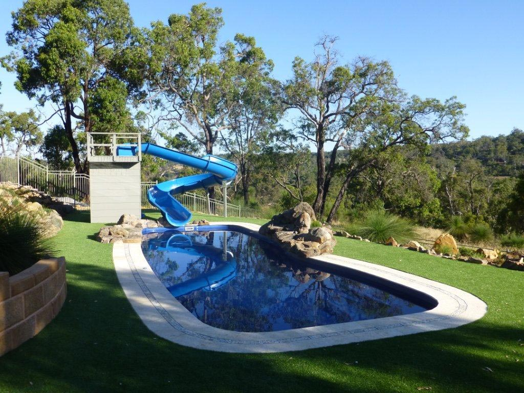 home pool water slides - House Pools With Slides