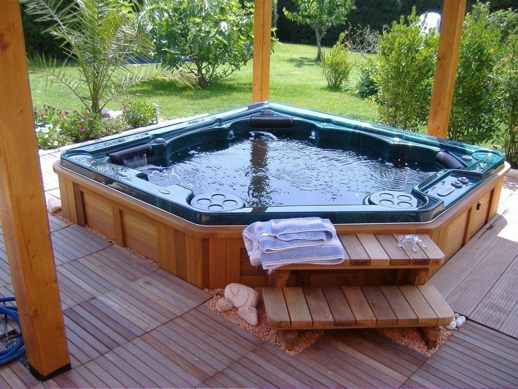 hot tubs backyard design ideas. Black Bedroom Furniture Sets. Home Design Ideas