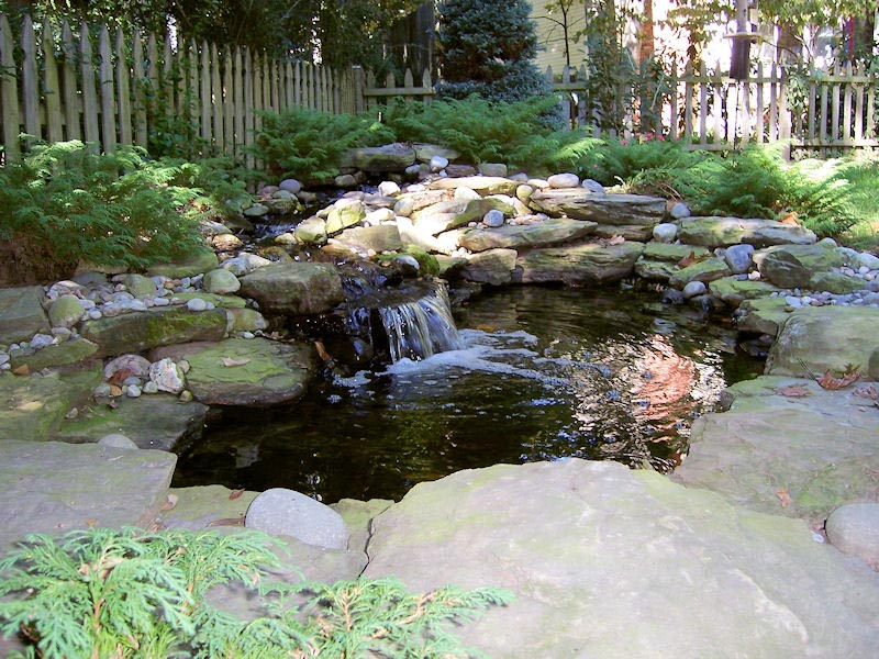 Landscape water fountains and ponds backyard design ideas for Pond feature ideas