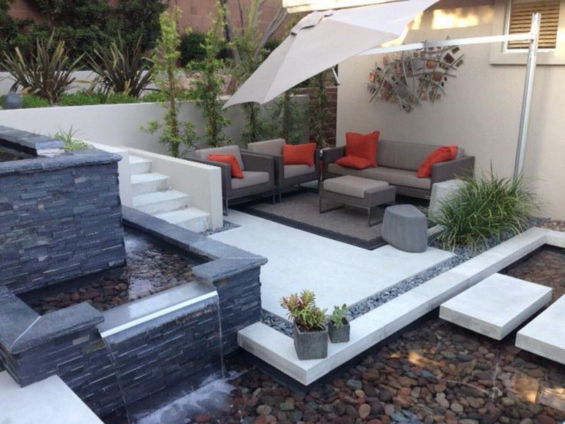 Landscaping Ideas with Water Fountains