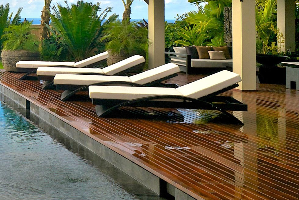 luxury outdoor pool furniture backyard design ideas On best poolside furniture