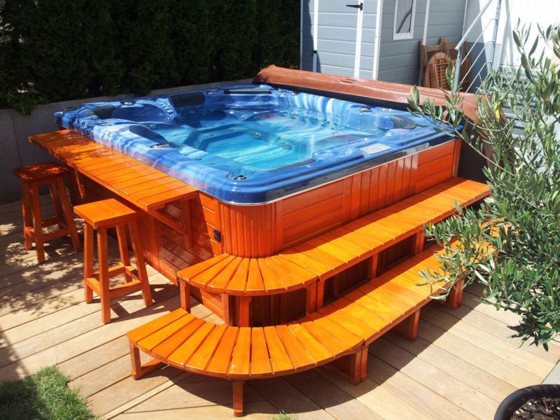 Luxus Outdoor Spa Whirlpool Jacuzzi Hot Tub 6 Personen | Backyard ...